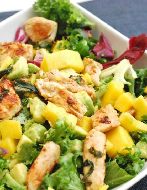 Super Easy Mango, Chicken and Avocado Salad Recipe