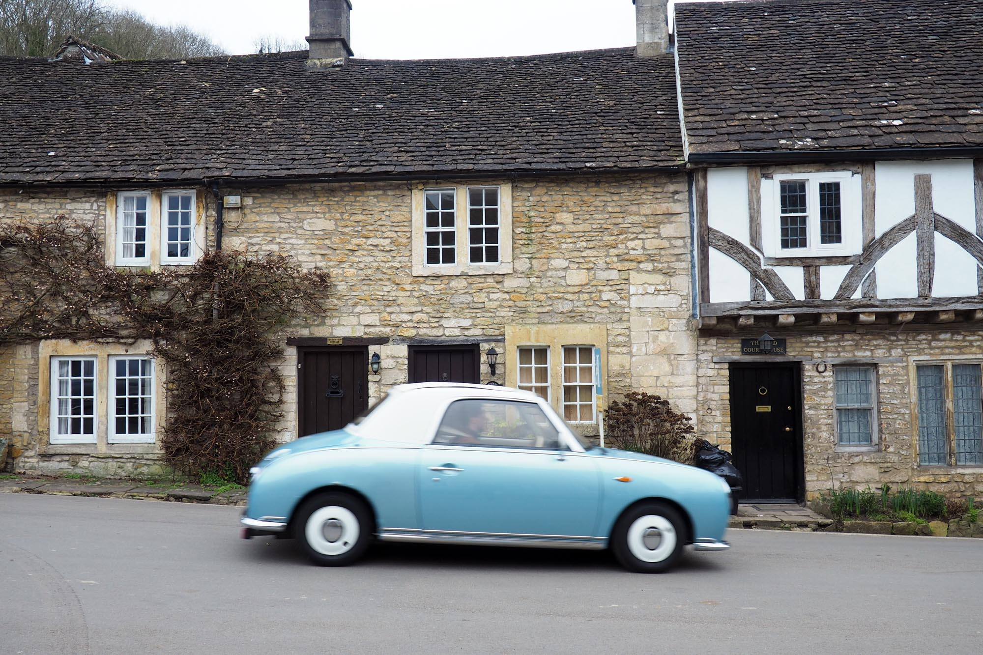 Castle Combe Cotswolds Nissan Figaro