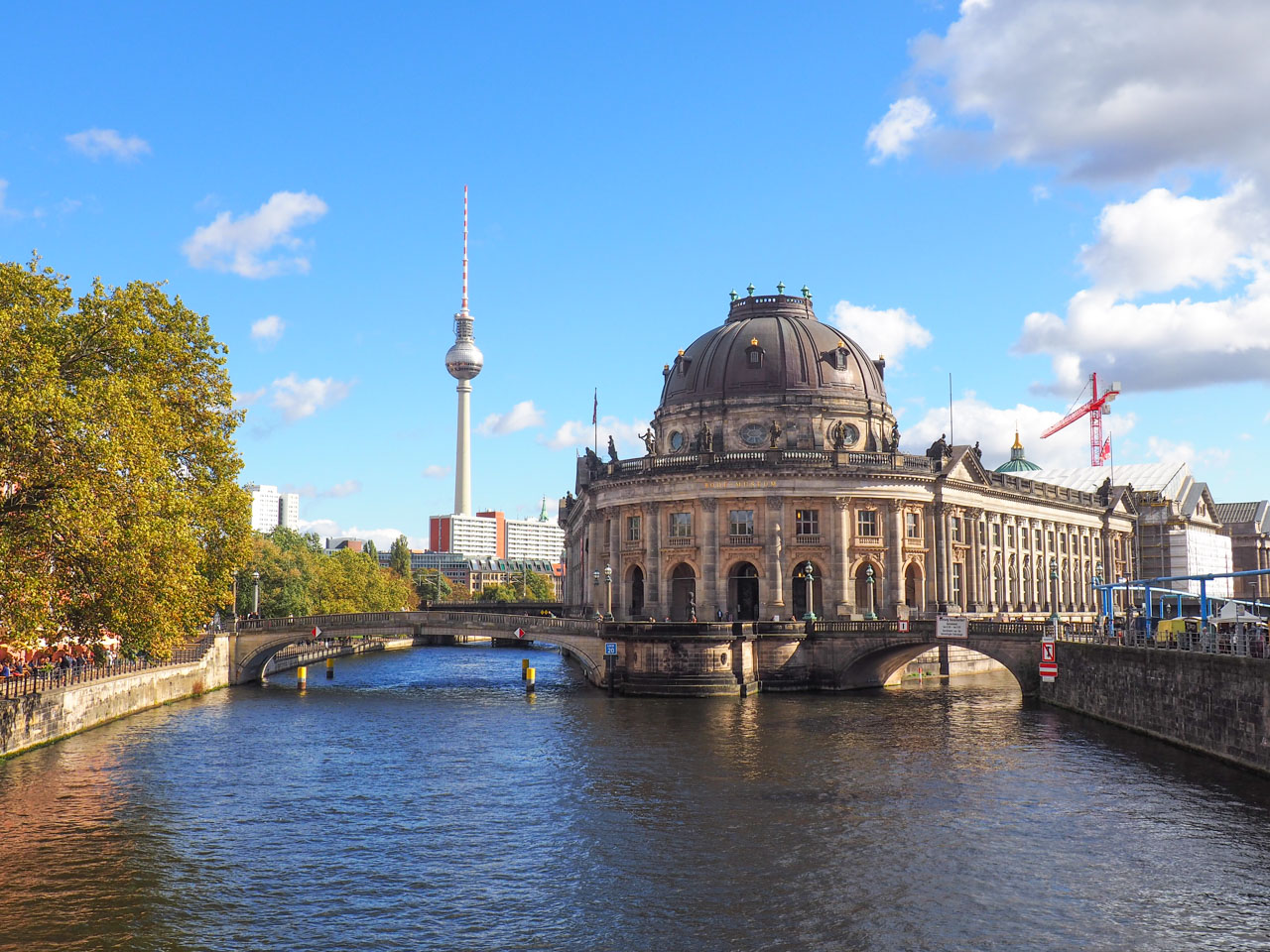 Berlin river and museum island